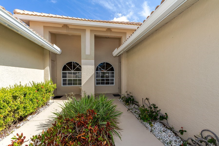 Real Estate Photography - 8047 Palamino Dr, Naples, FL, 34113 - Entryway