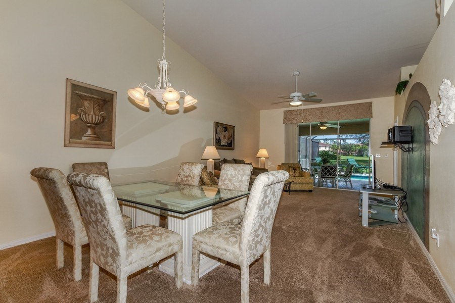 Real Estate Photography - 8047 Palamino Dr, Naples, FL, 34113 - Living Room / Dining Room