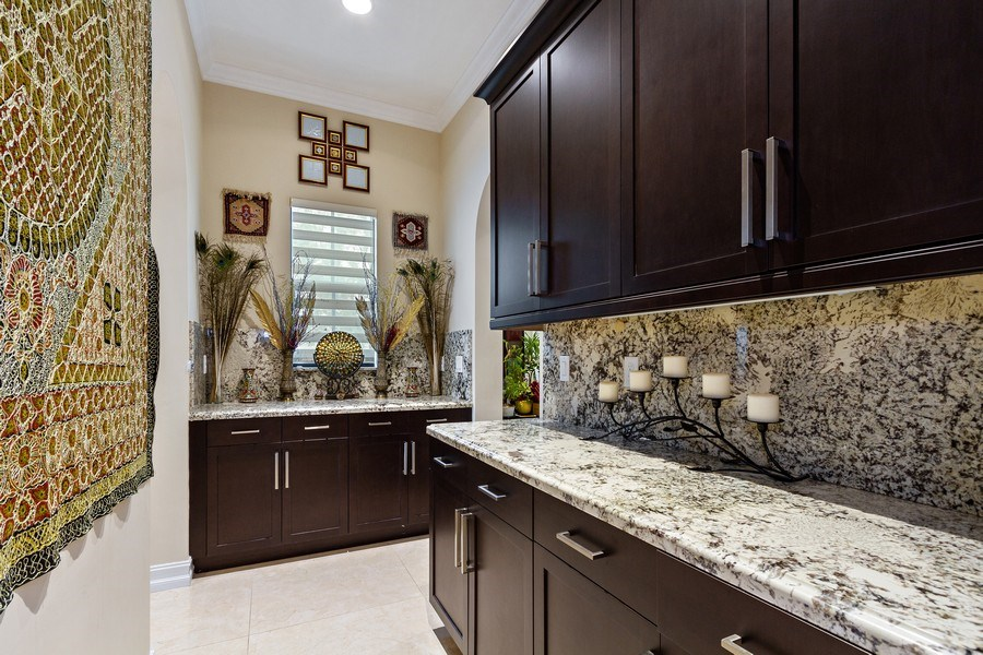 Real Estate Photography - 8745 E Watercress Ct, Parkland, FL, 33076 - Butler's pantry