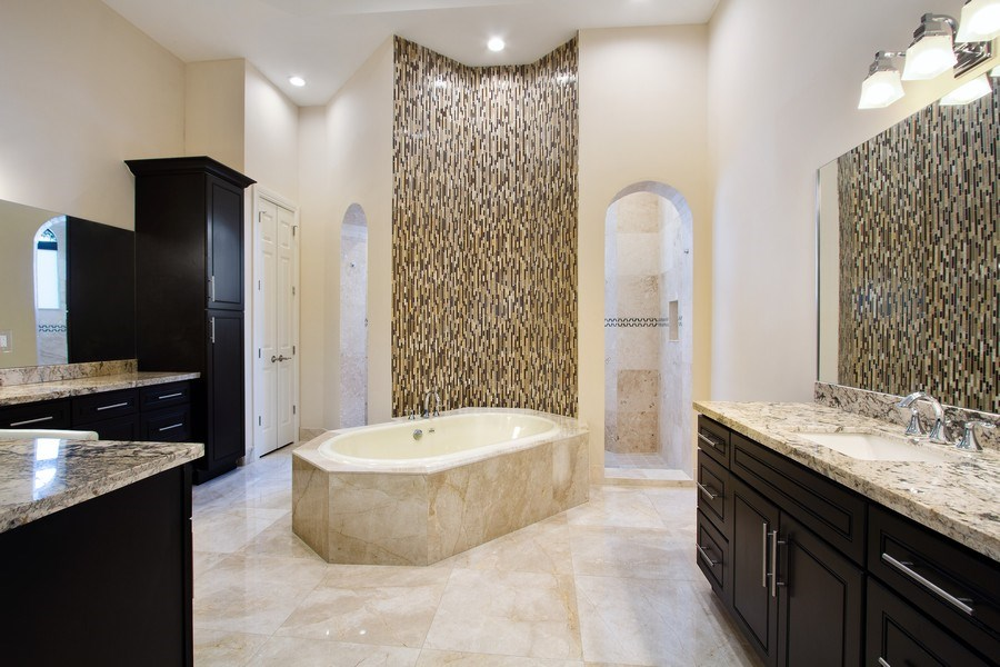Real Estate Photography - 6815 NW 122nd Ave, Parkland, FL, 33076 - Master Bathroom