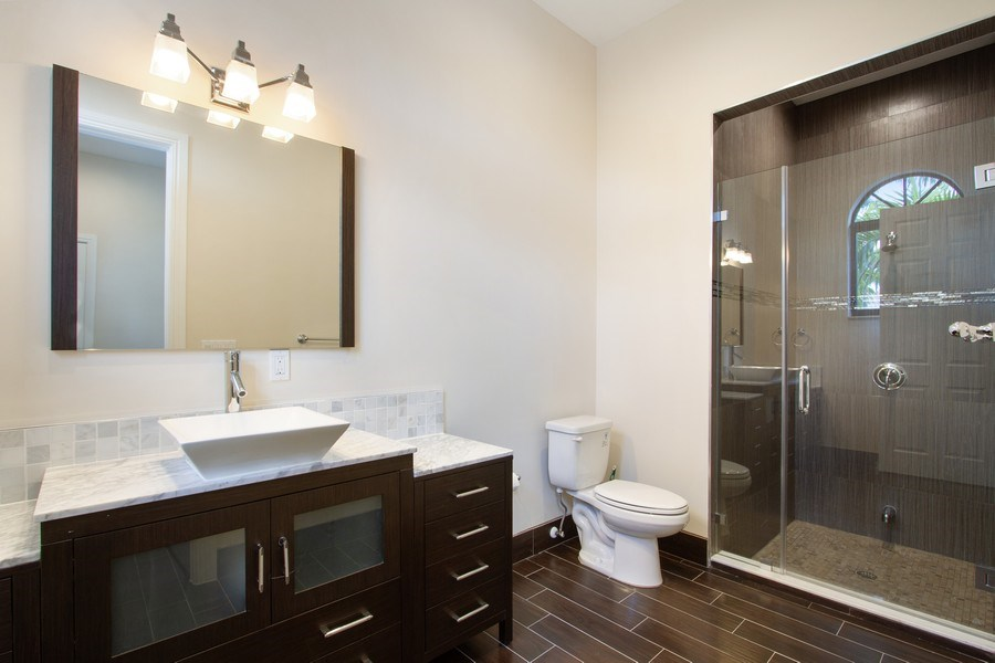 Real Estate Photography - 6815 NW 122nd Ave, Parkland, FL, 33076 - 2nd Bathroom