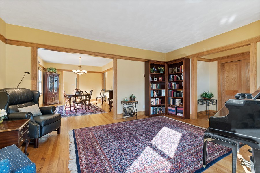 Real Estate Photography - 220 N Oak, Elmhurst, IL, 60126 - Living Room / Dining Room