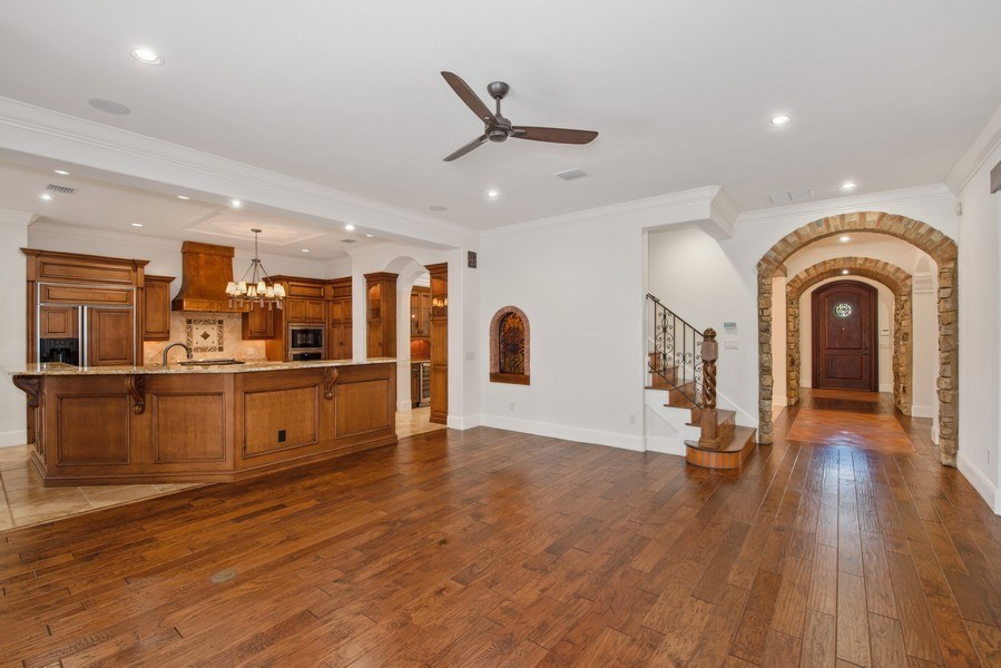 Real Estate Photography - 150 E Rockwood Way, Winter Park, FL, 32789 - Family Room / Kitchen