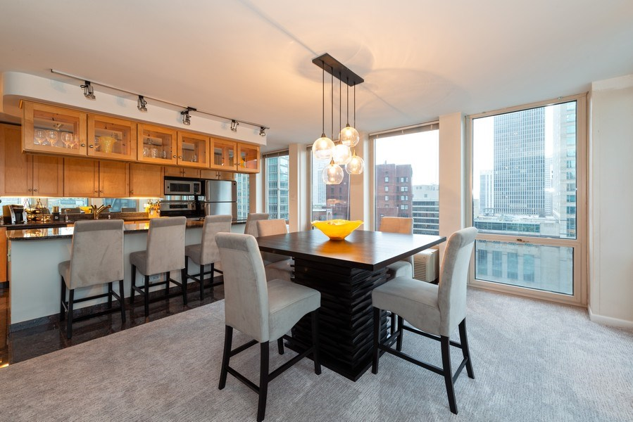 Real Estate Photography - 111 E Chestnut, Unit 20A, Chicago, IL, 60611 - Kitchen / Dining Room