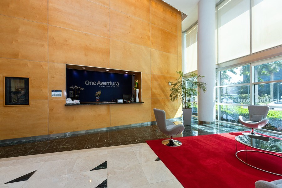 Real Estate Photography - 20900 NE 30 Ave, Unit 910, Aventura, FL, 33183 - Building Lobby