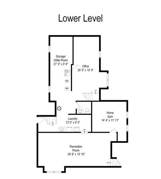 Real Estate Photography - 803 Belleforte Avenue, Oak Park, IL, 60302 - Floor Plan