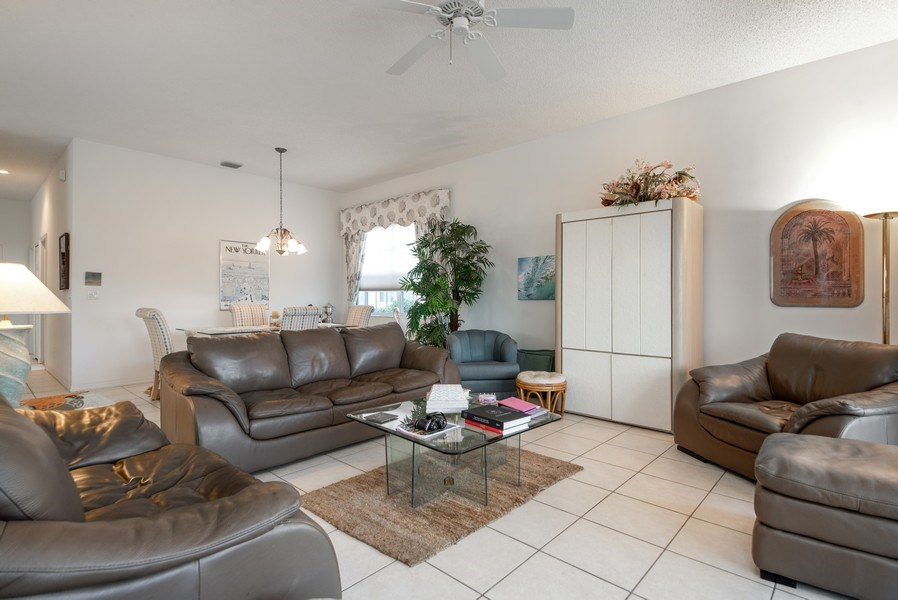 Real Estate Photography - 2591 Country Golf Drive, Wellington, FL, 33414 - Living Room