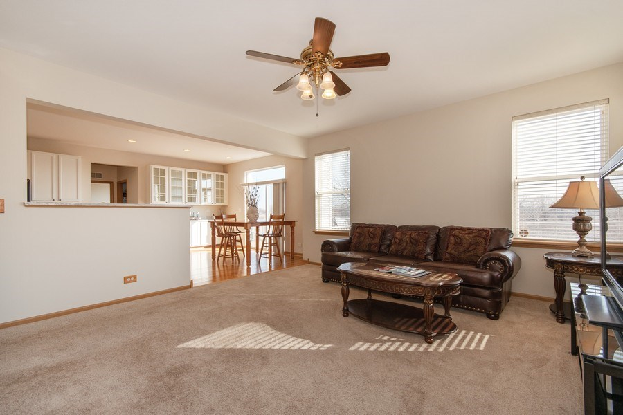 Real Estate Photography - 410 Kensington Dr., Oswego, IL, 60532 - Family Room
