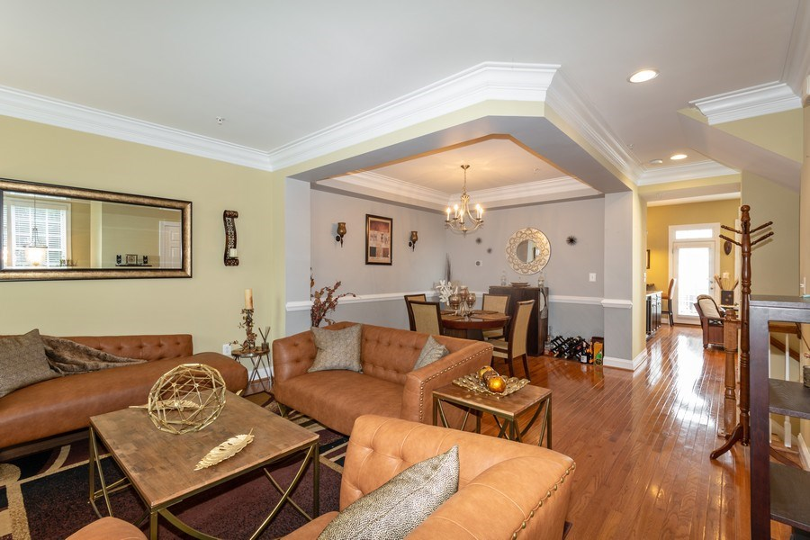 Real Estate Photography - 3536 Goddard Way, Alexandria, VA, 22304 - Living Room/Dining Room