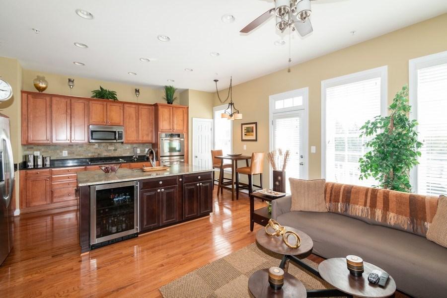 Real Estate Photography - 3536 Goddard Way, Alexandria, VA, 22304 - Family Room / Kitchen