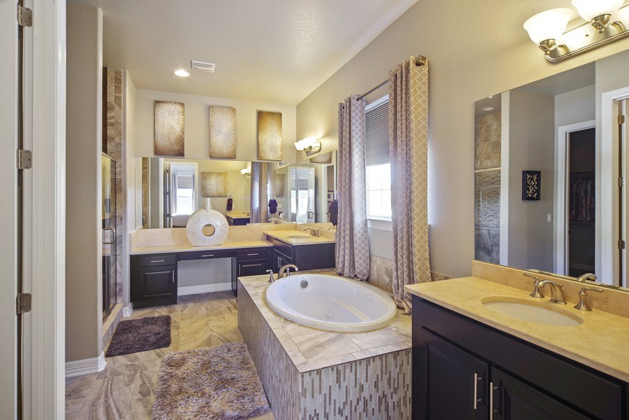 Real Estate Photography - 1650 Tiverton Ave, Broomfield, CO, 80023 - Master Bathroom