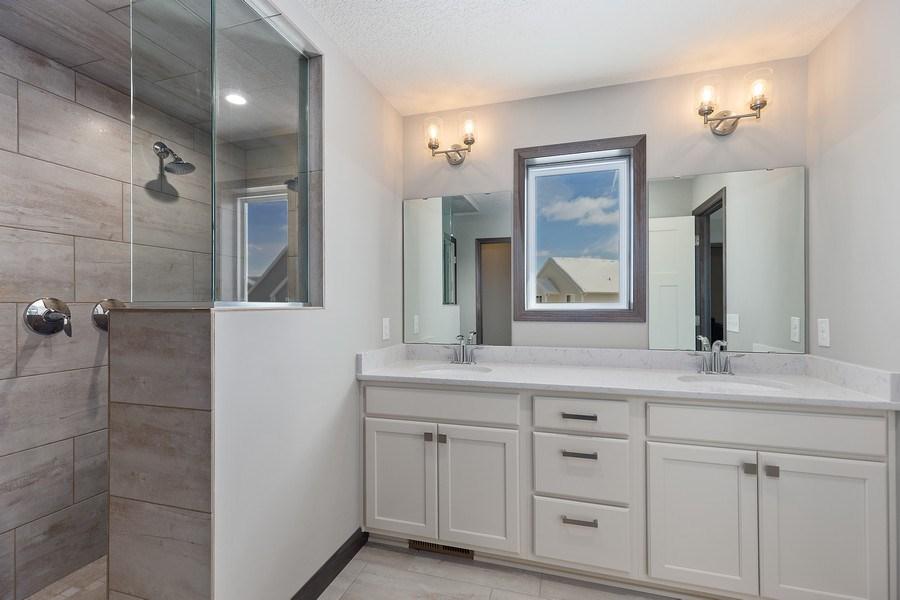 Real Estate Photography - 5118 Suntide Pass, Woodbury, MN, 55129 - Master Bathroom