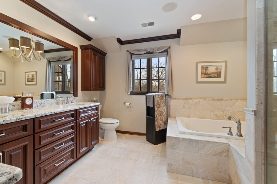 Real Estate Photography - 415 Butternut Trail, Frankfort, IL, 60423 - Master Bathroom