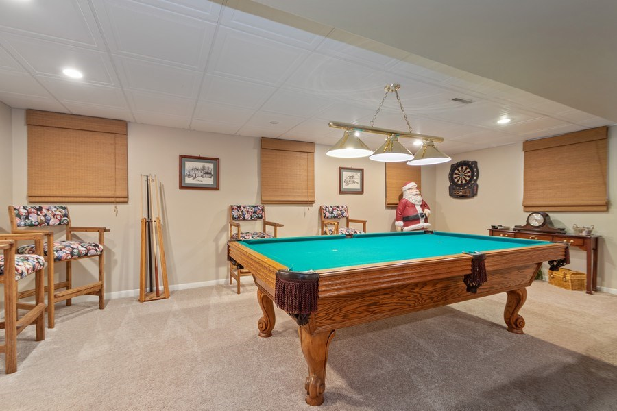 Real Estate Photography - 415 Butternut Trail, Frankfort, IL, 60423 - Basement Game Room