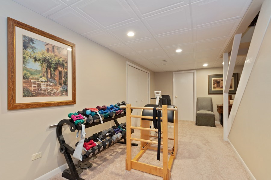 Real Estate Photography - 415 Butternut Trail, Frankfort, IL, 60423 - Basement Exercise Room