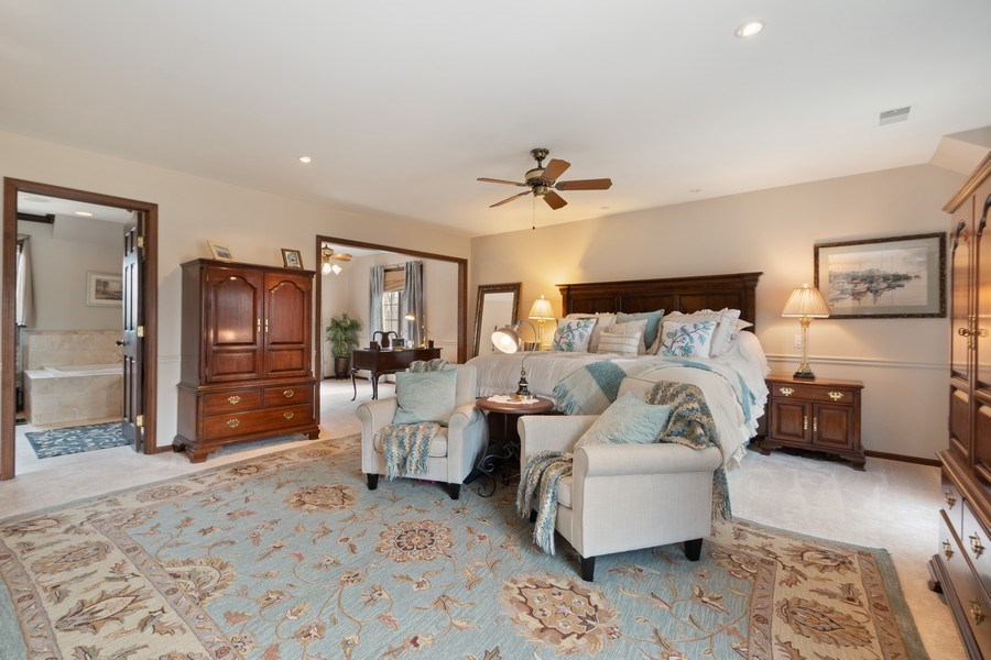 Real Estate Photography - 415 Butternut Trail, Frankfort, IL, 60423 - Master Bedroom