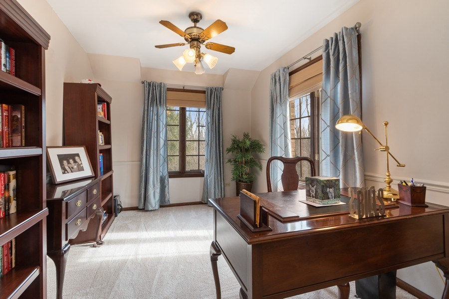 Real Estate Photography - 415 Butternut Trail, Frankfort, IL, 60423 - Master Bedroom Sitting Room/Office