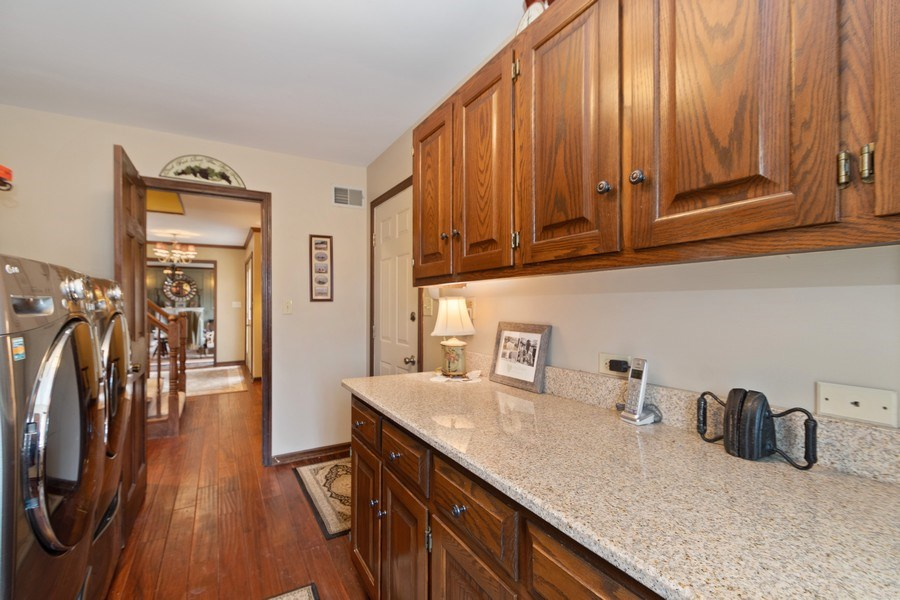 Real Estate Photography - 415 Butternut Trail, Frankfort, IL, 60423 - Laundry Room