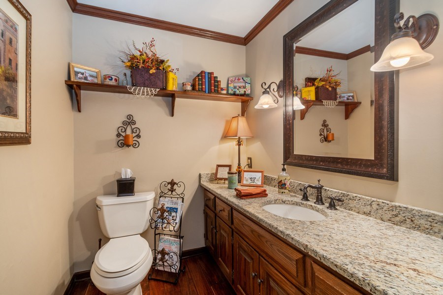 Real Estate Photography - 415 Butternut Trail, Frankfort, IL, 60423 - Powder Room