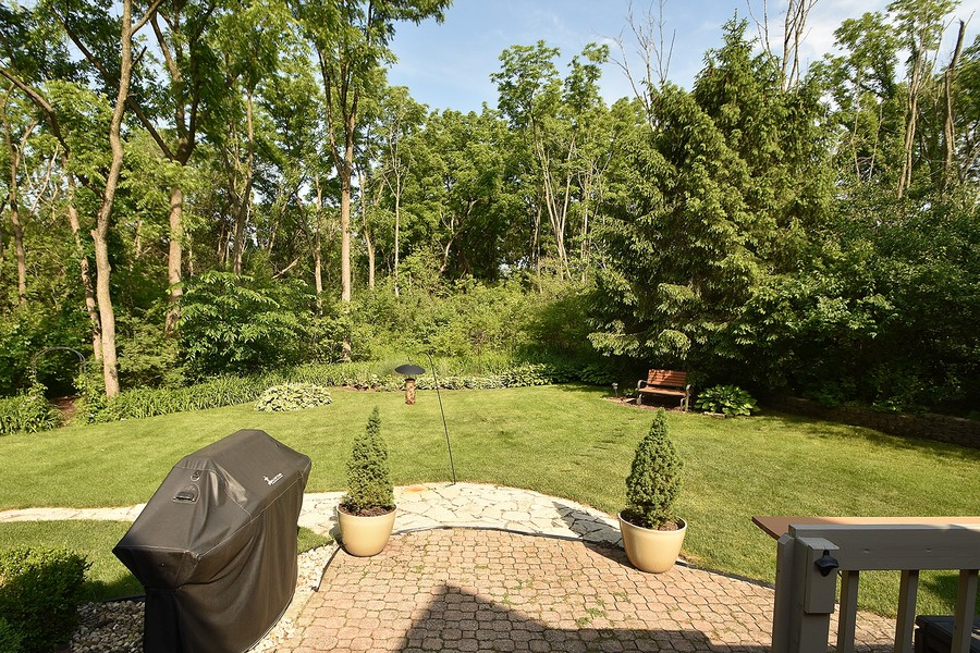 Real Estate Photography - 415 Butternut Trail, Frankfort, IL, 60423 - Paver Patio and Backyard
