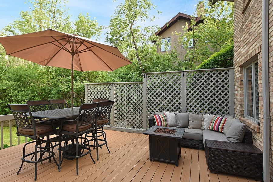Real Estate Photography - 415 Butternut Trail, Frankfort, IL, 60423 - Deck