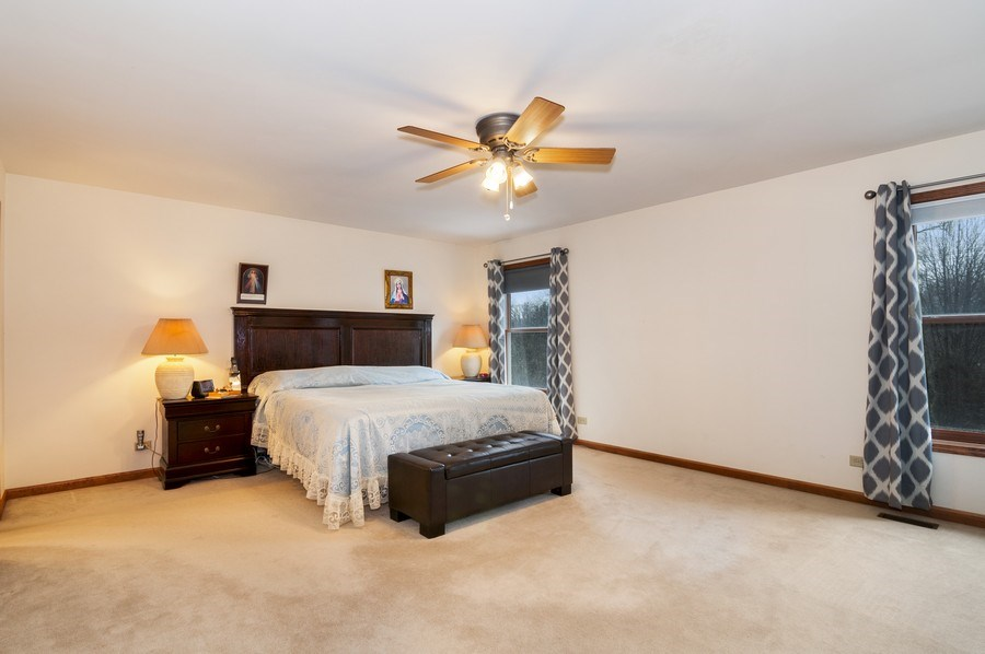 Real Estate Photography - 819 Farm Dr, West Chicago, IL, 60185 - Master Bedroom