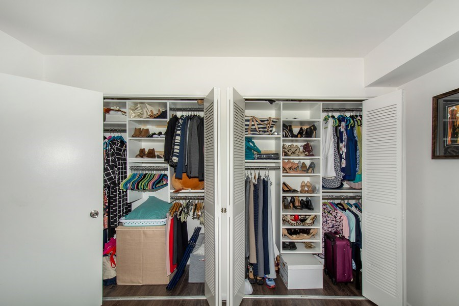 Real Estate Photography - 10696 Weymouth, Bethesda, MD, 20814 - Master Bedroom Closet