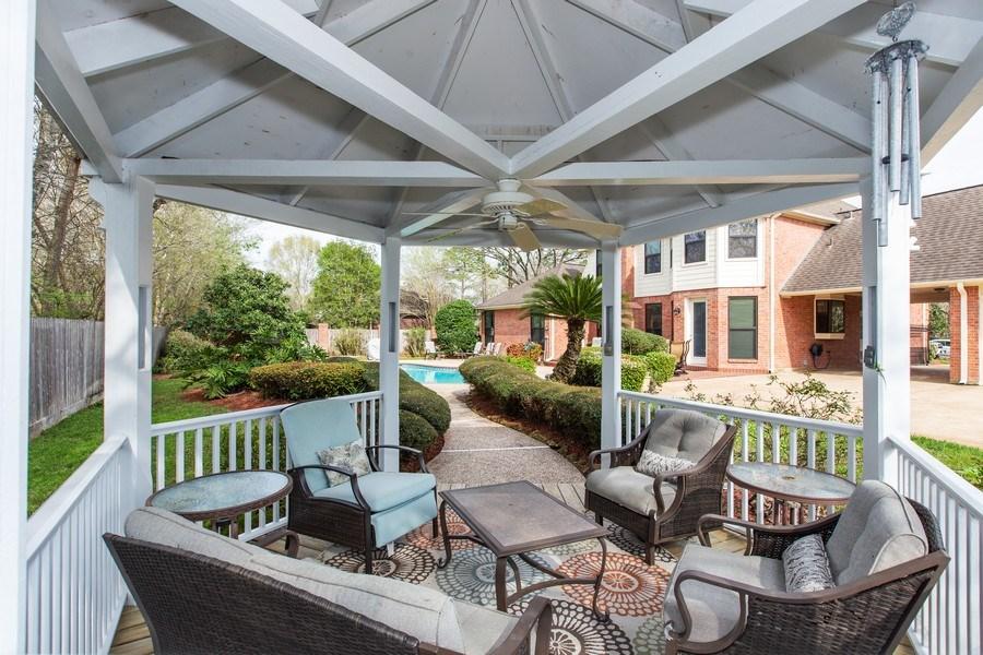 Real Estate Photography - 408 Fieldcreek Dr, Friendswood, TX, 77546 - Gazebo
