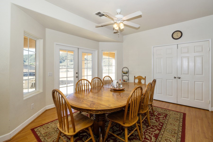 Real Estate Photography - 47298 Twin Pine Rd, Banning, CA, 92220 - Dining Room