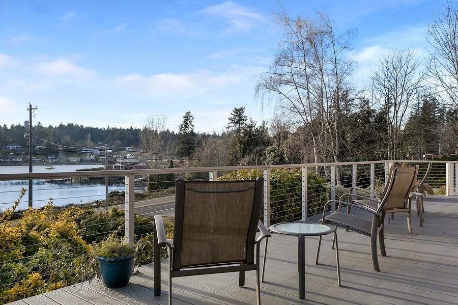 Real Estate Photography - 3615 East Bay Drive, Gig Harbor, WA, 98335 - Deck