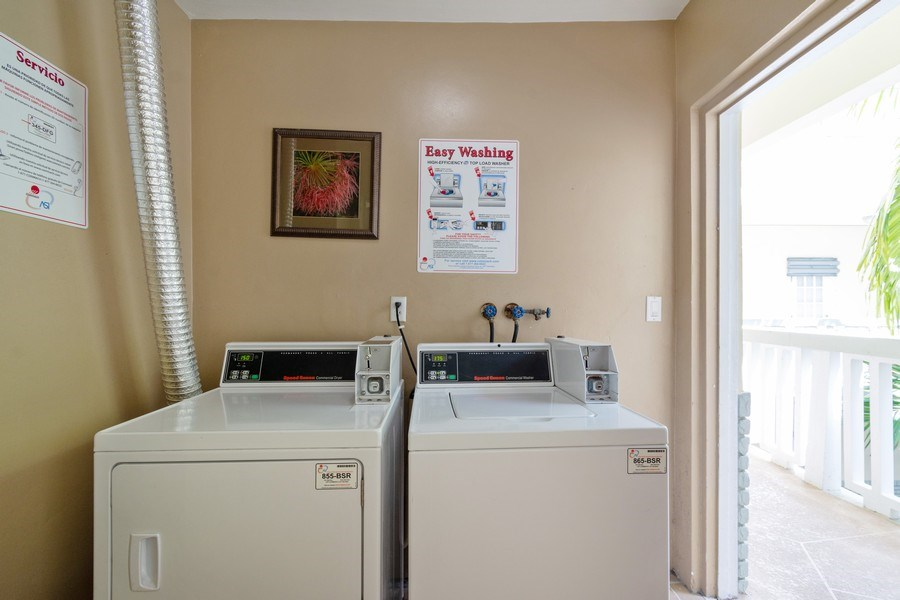 Real Estate Photography - 2420 SE 17th Street Cswy #308C, Fort Lauderdale, FL, 33316 - Laundry Room