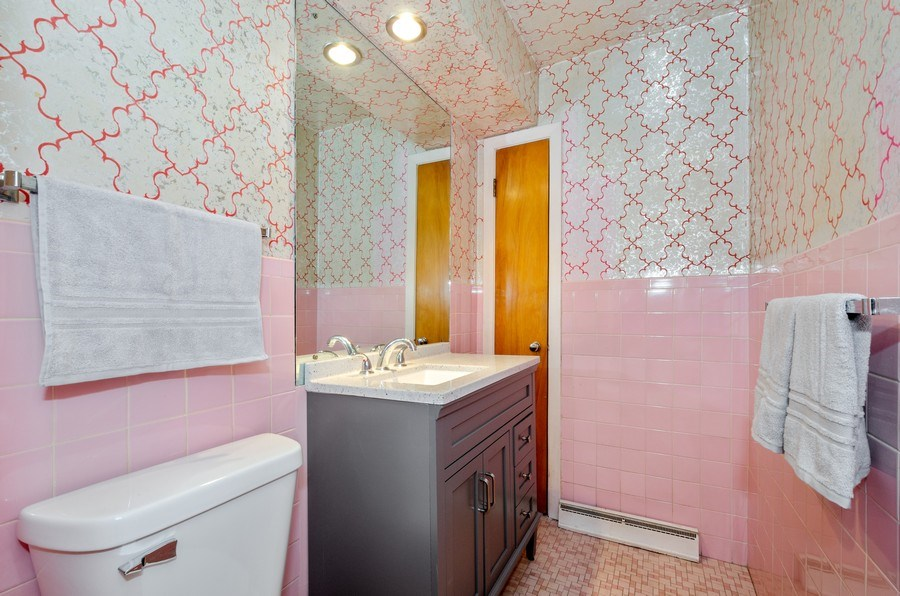 Real Estate Photography - 7407 N California Ave, Chicago, IL, 60645 - Powder Room