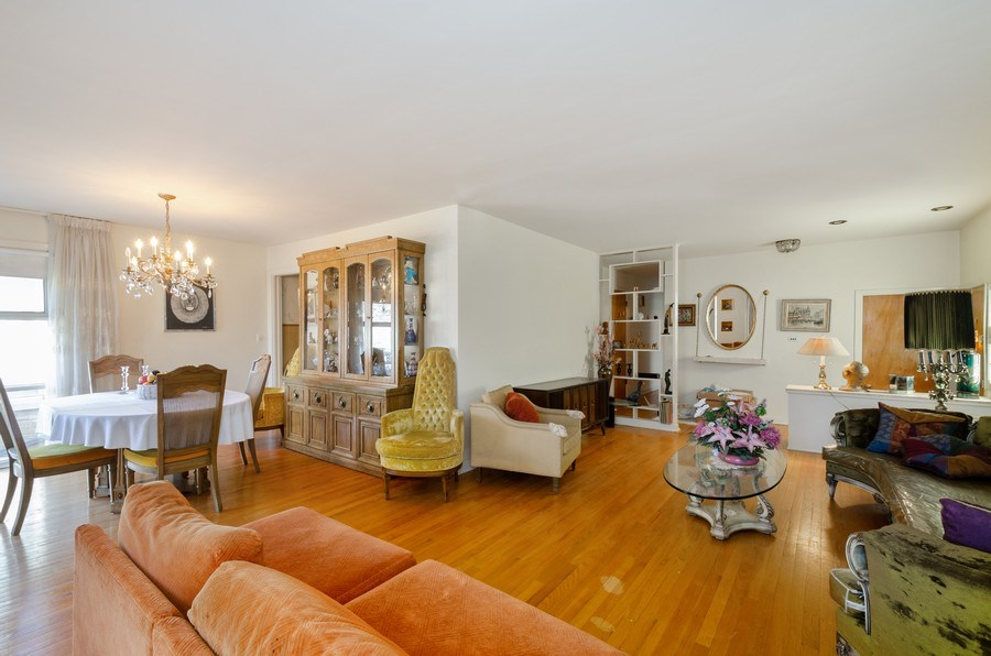 Real Estate Photography - 7407 N California Ave, Chicago, IL, 60645 - Living Room / Dining Room