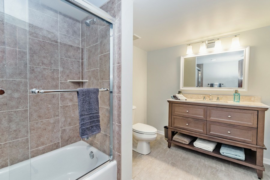 Real Estate Photography - 20353 Hilltop Road, Mokena, IL, 60448 - 2nd Bathroom
