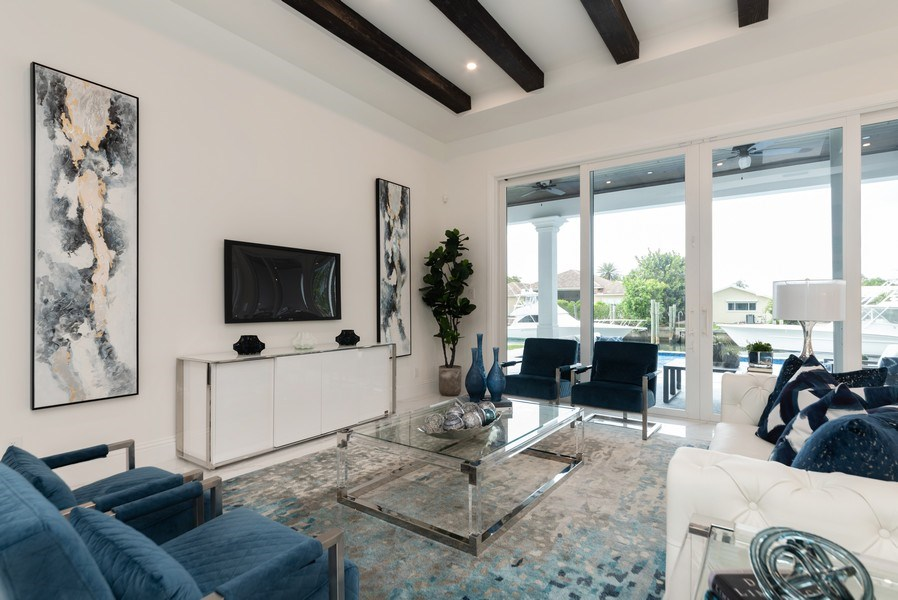 Real Estate Photography - 1200 Bimini Lane, Singer Island, FL, 33408 - Living Room