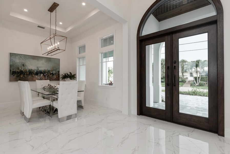 Real Estate Photography - 1200 Bimini Lane, Singer Island, FL, 33408 - Foyer/Dining Room