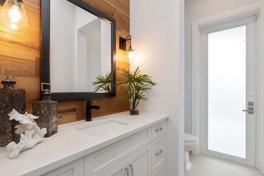 Real Estate Photography - 1200 Bimini Lane, Singer Island, FL, 33408 - Powder Room