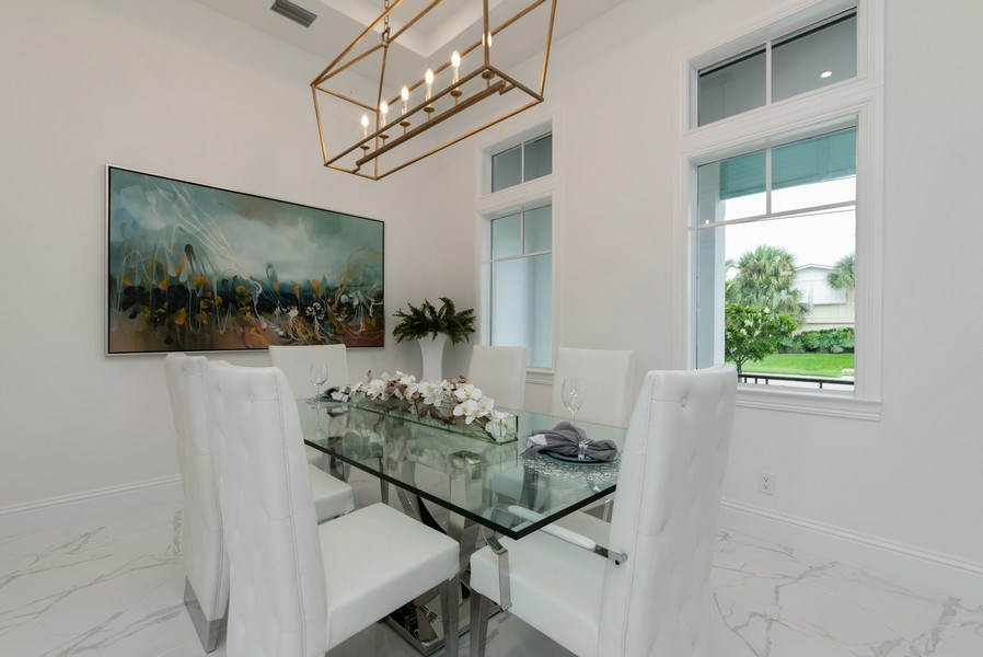 Real Estate Photography - 1200 Bimini Lane, Singer Island, FL, 33408 - Dining Room