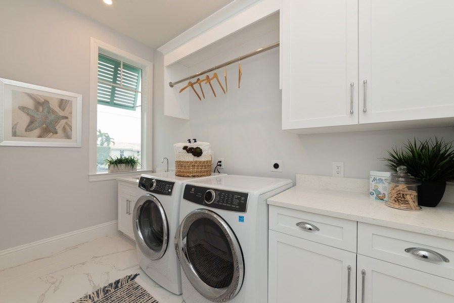 Real Estate Photography - 1200 Bimini Lane, Singer Island, FL, 33408 - Laundry Room