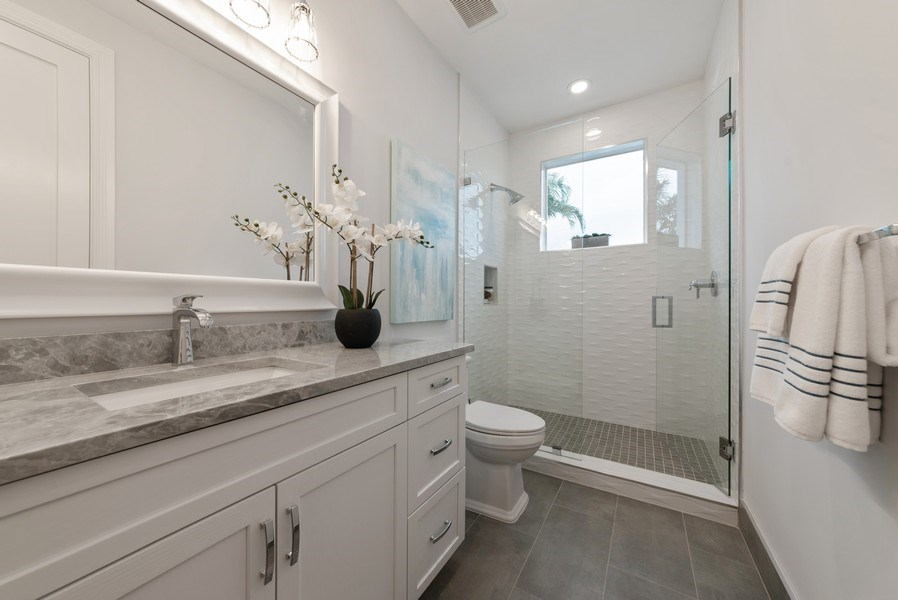 Real Estate Photography - 1200 Bimini Lane, Singer Island, FL, 33408 - 2nd Bathroom