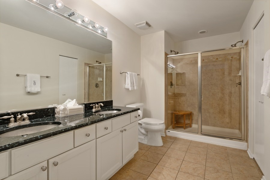 Real Estate Photography - 849 N Franklin, 917, Chicago, IL, 60610 - Master Bathroom