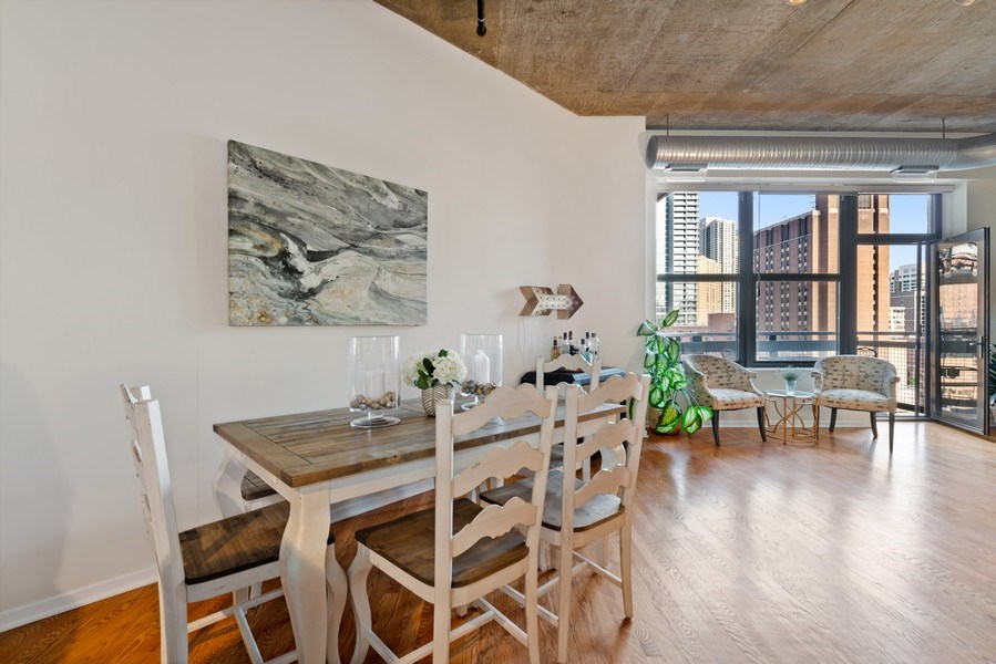 Real Estate Photography - 849 N Franklin, 917, Chicago, IL, 60610 - Dining Room