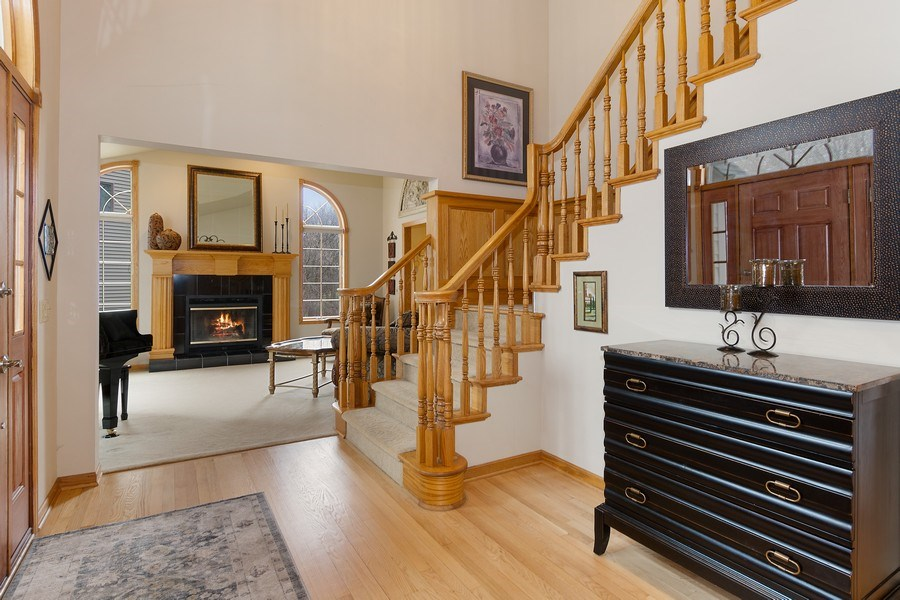 Real Estate Photography - 441 Clearbrooke Ter, Cottage Grove, WI, 53527 - Foyer/Living Room