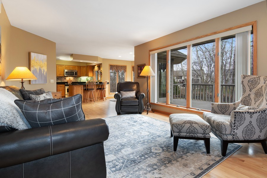 Real Estate Photography - 441 Clearbrooke Ter, Cottage Grove, WI, 53527 - Family Room / Kitchen