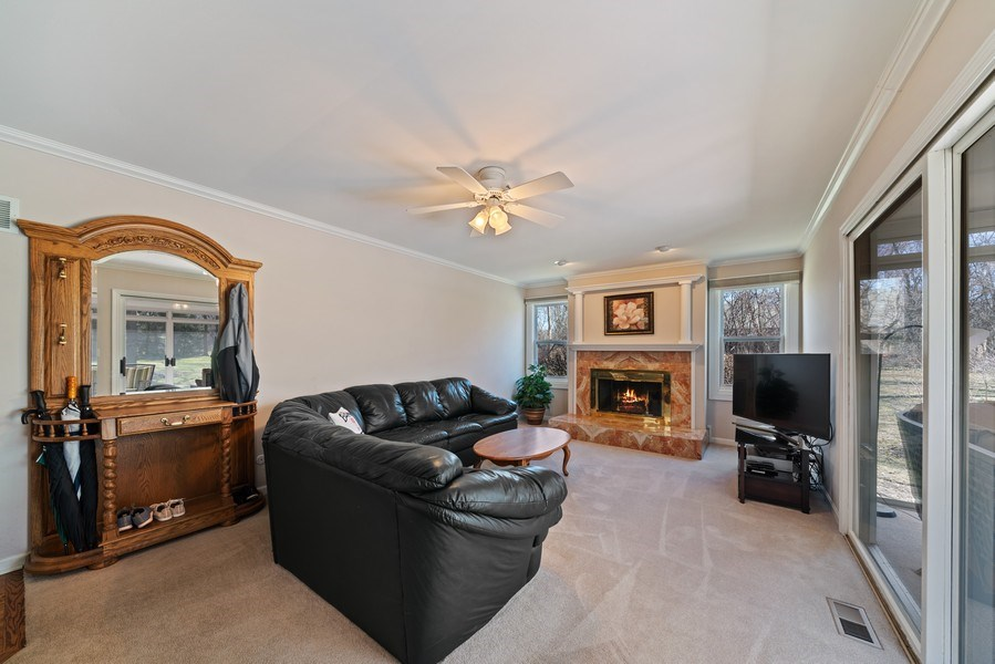Real Estate Photography - 9 Ashbury Ln, Barrington Hills, IL, 60010 - Family Room