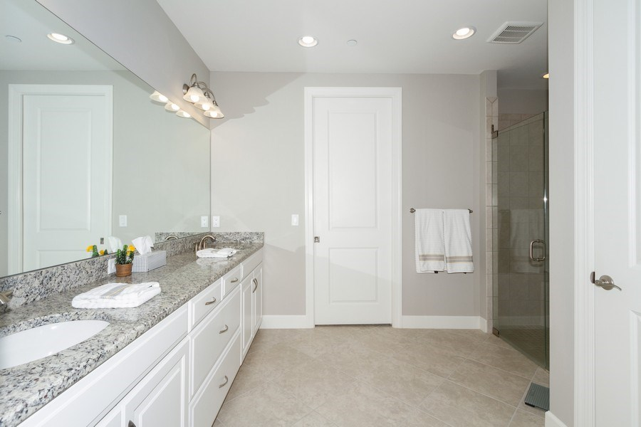 Real Estate Photography - 8777 Bellano Ct #101, Naples, FL, 34119 - Master Bathroom