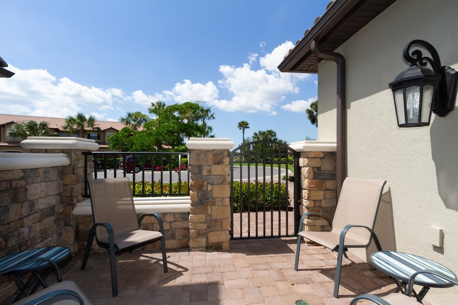 Real Estate Photography - 8777 Bellano Ct #101, Naples, FL, 34119 - Patio