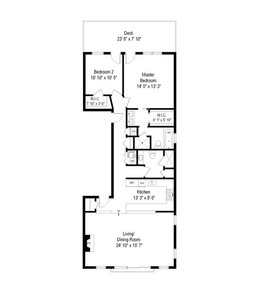 Real Estate Photography - 1275 N Clybourn, Unit 3, Chicago, IL, 60610 - Floor Plan