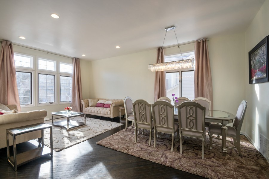 Real Estate Photography - 5506 N Kildare Ave, Chicago, IL, 60630 - Living Room / Dining Room
