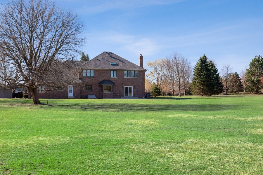 Real Estate Photography - 4 Ascot Lane, Barrington Hills, IL, 60010 - Rear View